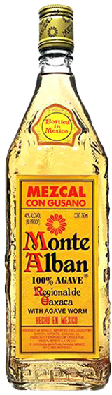 Monte Alban Mezcal with Worm 700ml