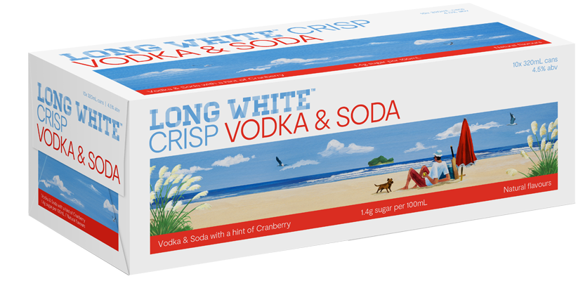 Long White Crisp Vodka, Cranberry & Soda 10-Pack (10x320ml)