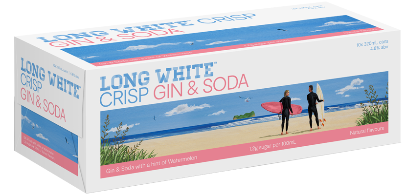 Long White Crisp Gin, Watermelon & Soda 10-Pack (10x320ml)