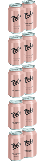 Pals Vodka Watermelon Mint and Soda 10-Pack (10x330ml)