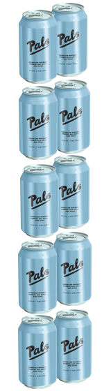 Pals American Whiskey Hawke's Bay Apple and Soda 10-Pack (10x330ml)