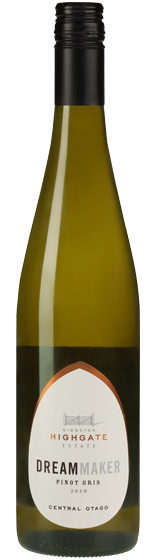 Gibbston Highgate Estate Dreammaker Central Otago Pinot Gris 2020